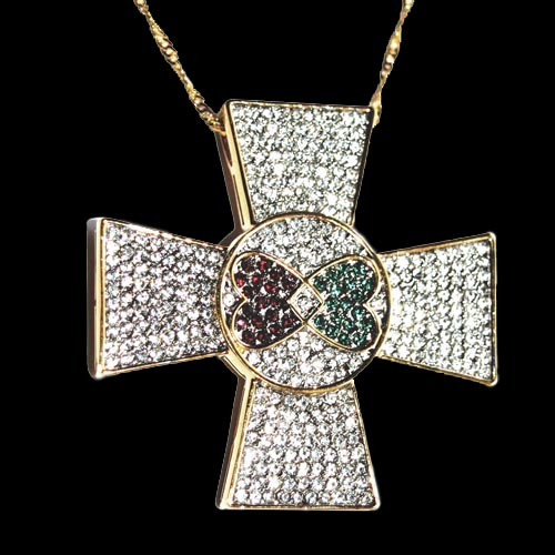 Elvis jewellery elvis maltese cross 18 karat gold plated sale aloadofball Image collections