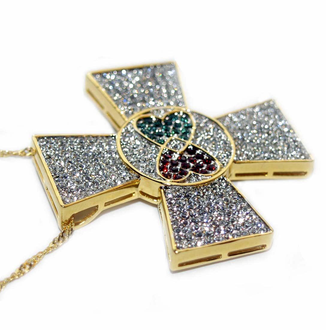 Elvis jewellery elvis maltese cross 18 karat gold plated sale mozeypictures Image collections