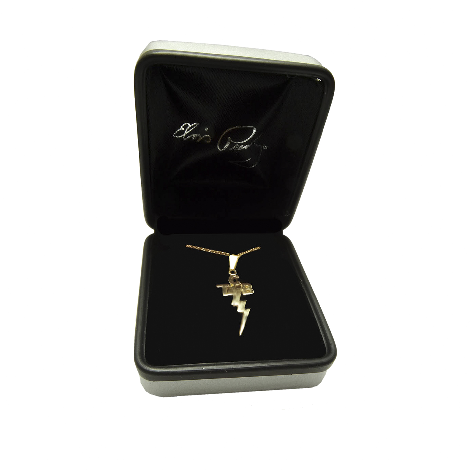 Elvis jewellery tcb pendant 9 karat gold small mozeypictures Gallery