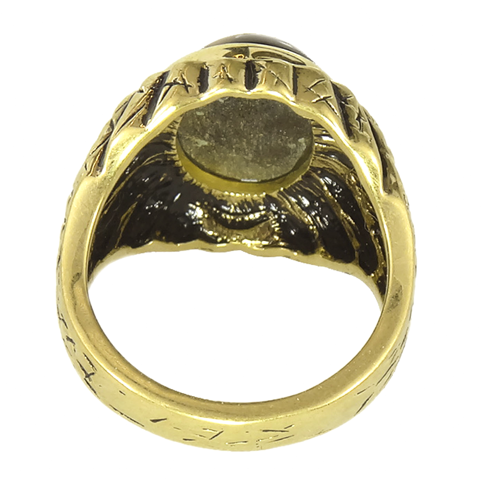 n product eye s size signet ring gold tiger tigers rings head yellow