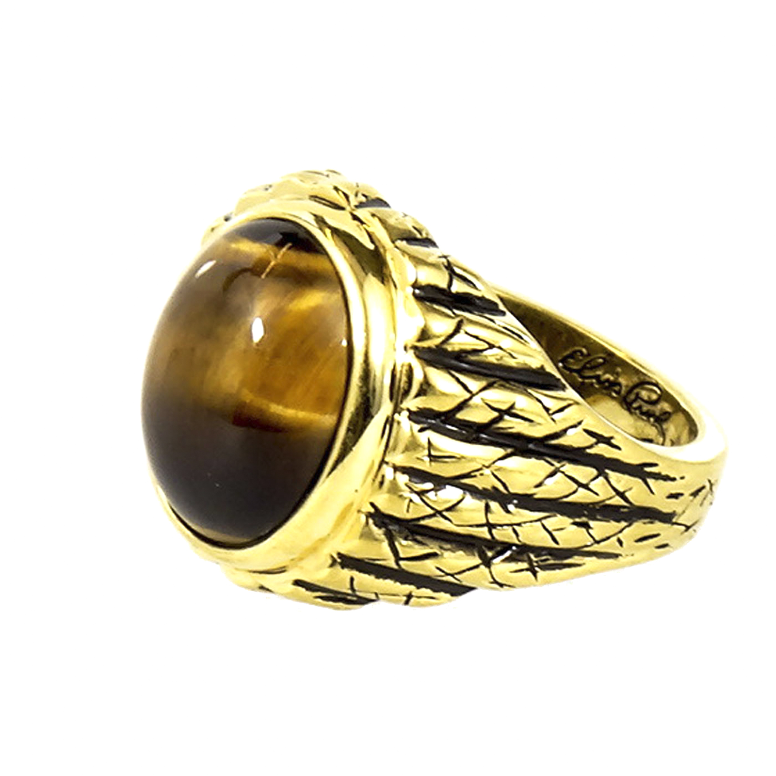 for tiger oblacoder real eye resin tigers ring elegant stone men rings