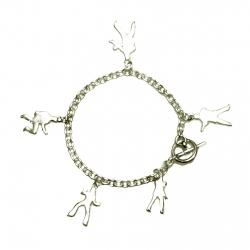 Jailhouse Rock Silhouette Charm Bracelet Silver (37) SKU37JHRCBS 1600x1600